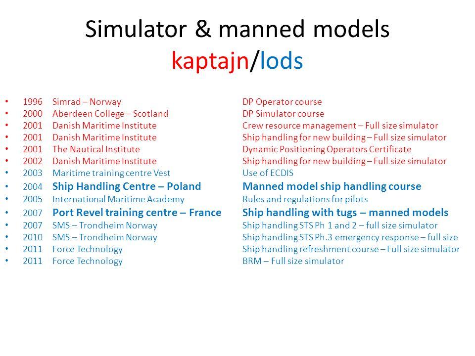 Simulator & manned models kaptajn/lods