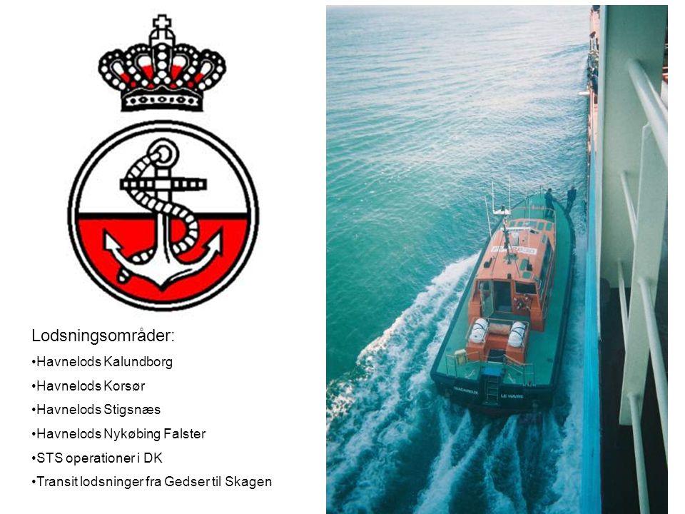 Lodsningsområder: Havnelods Kalundborg Havnelods Korsør