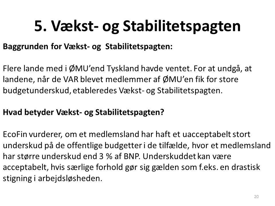 5. Vækst- og Stabilitetspagten