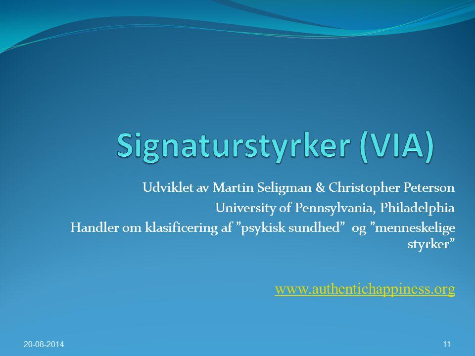 Signaturstyrker (VIA)