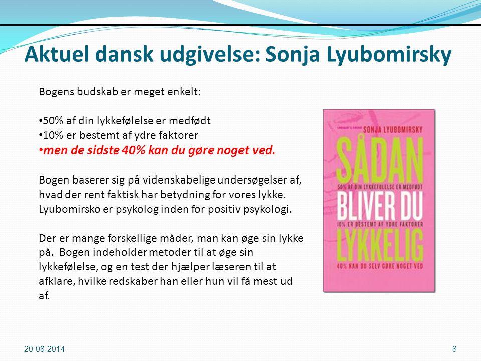 Aktuel dansk udgivelse: Sonja Lyubomirsky