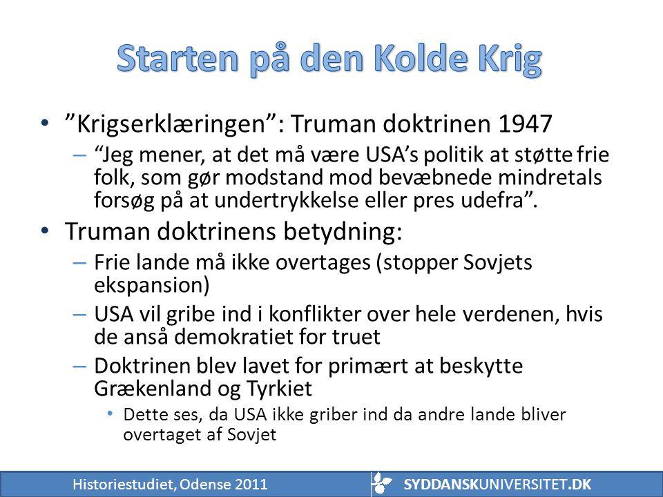 Starten på den Kolde Krig