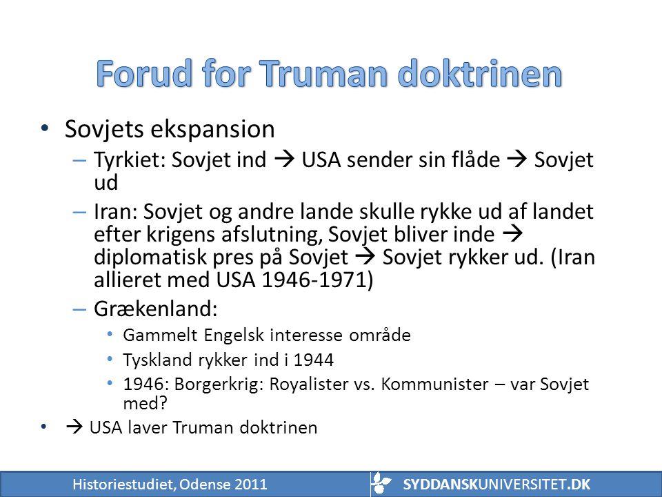 Forud for Truman doktrinen