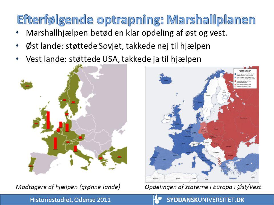 Efterfølgende optrapning: Marshallplanen