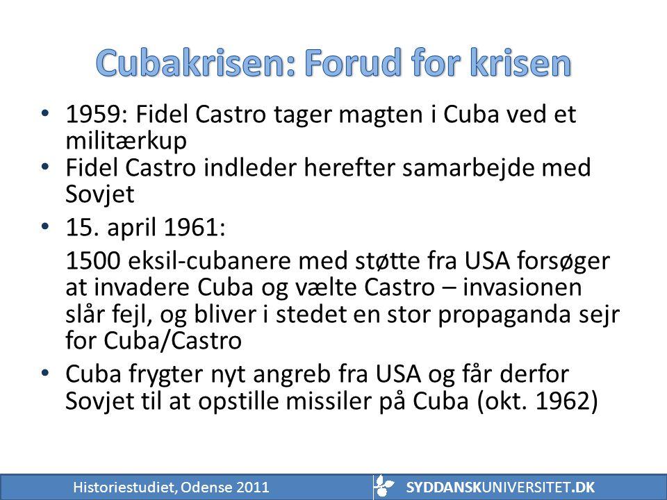 Cubakrisen: Forud for krisen