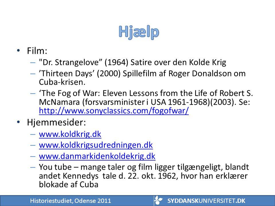 Hjælp Film: Hjemmesider: