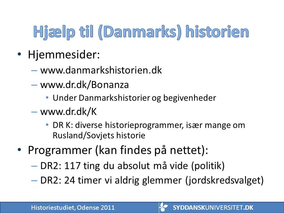 Hjælp til (Danmarks) historien