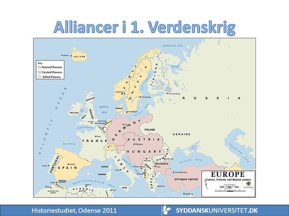 Alliancer i 1. Verdenskrig