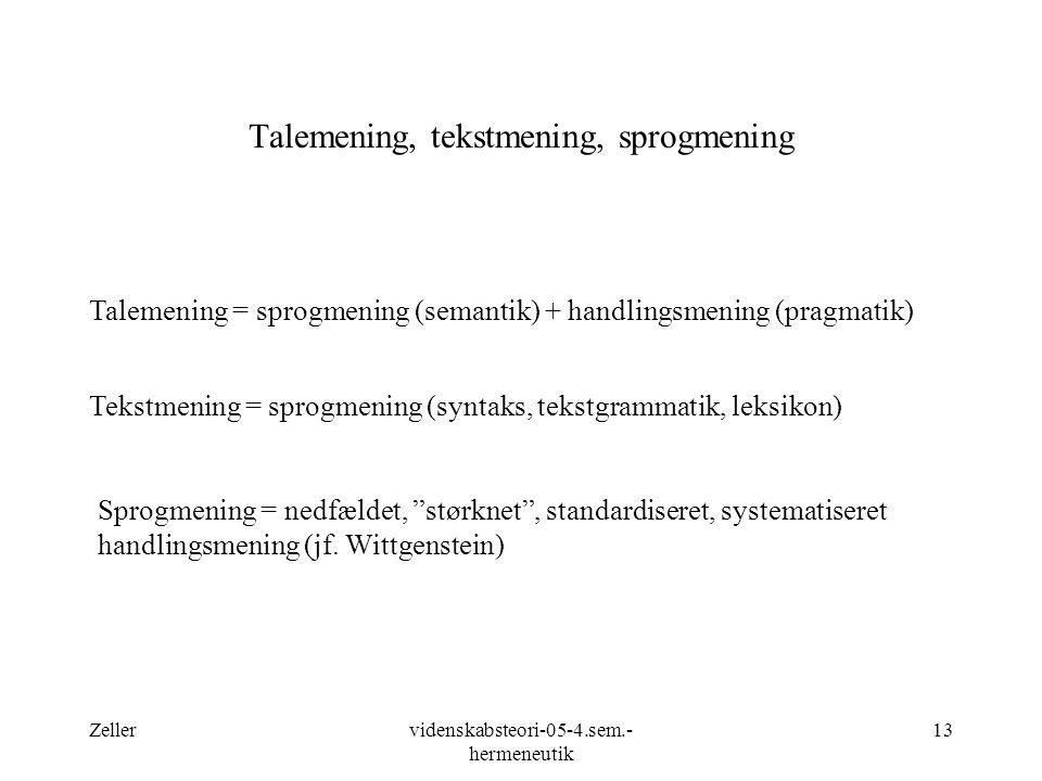 Talemening, tekstmening, sprogmening