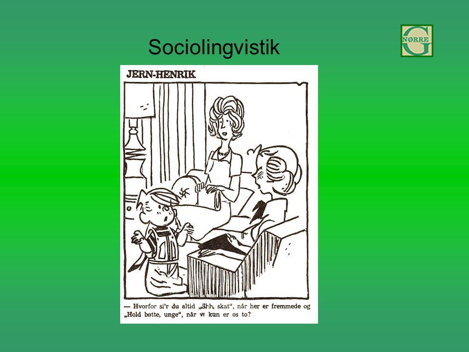 Sociolingvistik