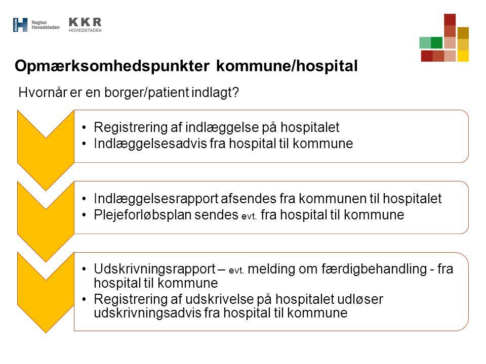 Opmærksomhedspunkter kommune/hospital