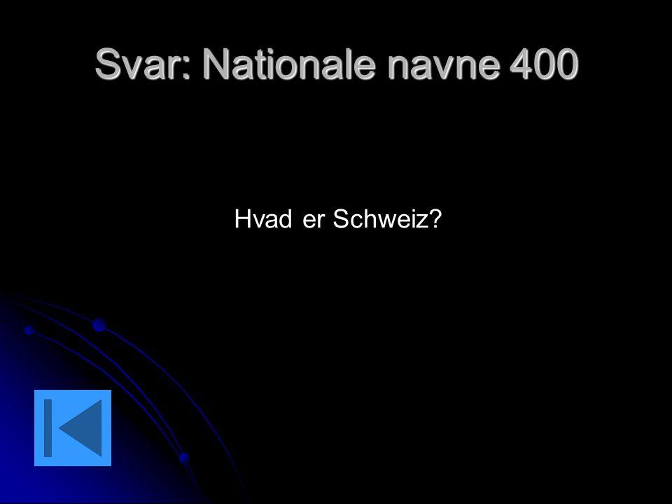 Svar: Nationale navne 400 Hvad er Schweiz