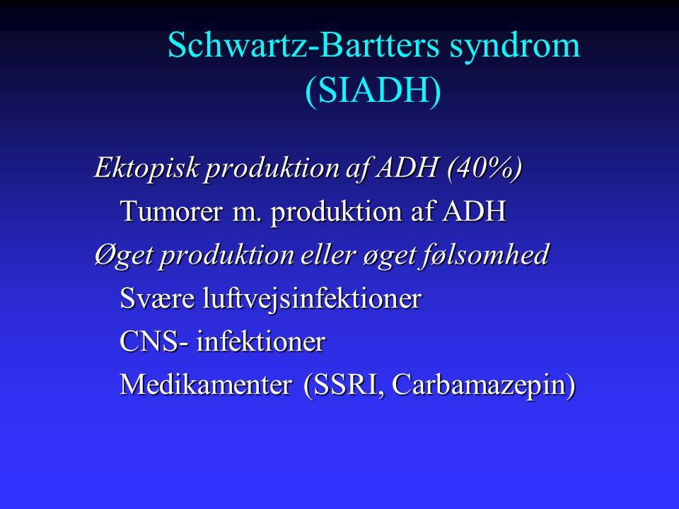 Schwartz-Bartters syndrom (SIADH)