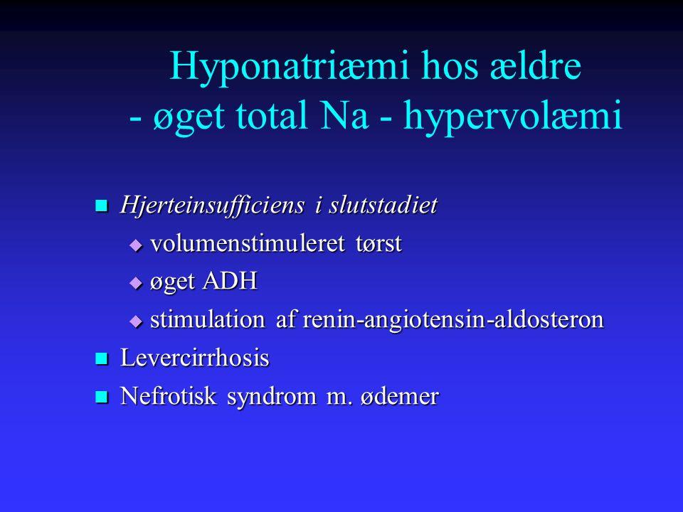Hyponatriæmi hos ældre - øget total Na - hypervolæmi