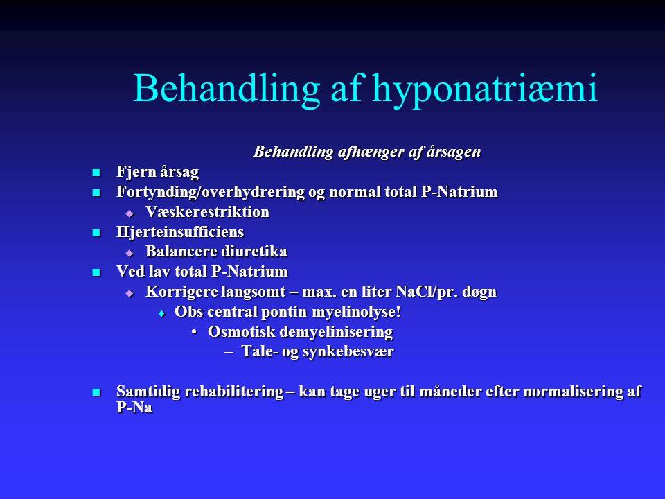 Behandling af hyponatriæmi