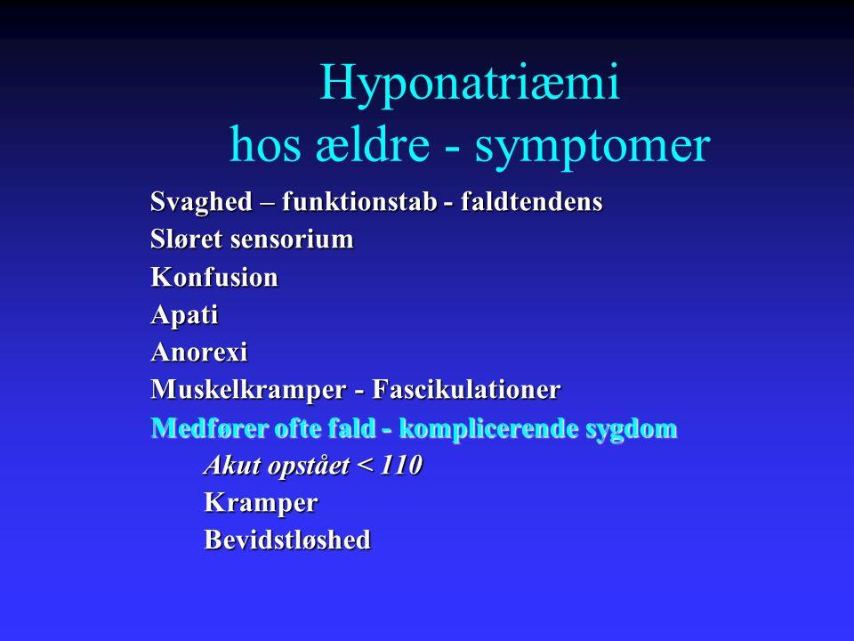 Hyponatriæmi hos ældre - symptomer
