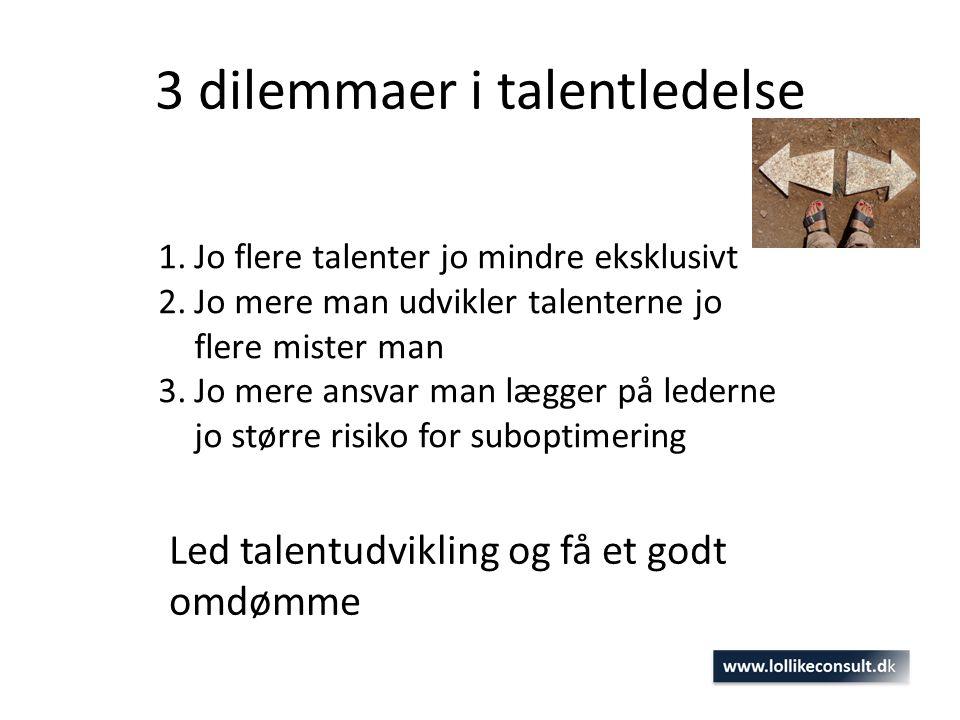 3 dilemmaer i talentledelse