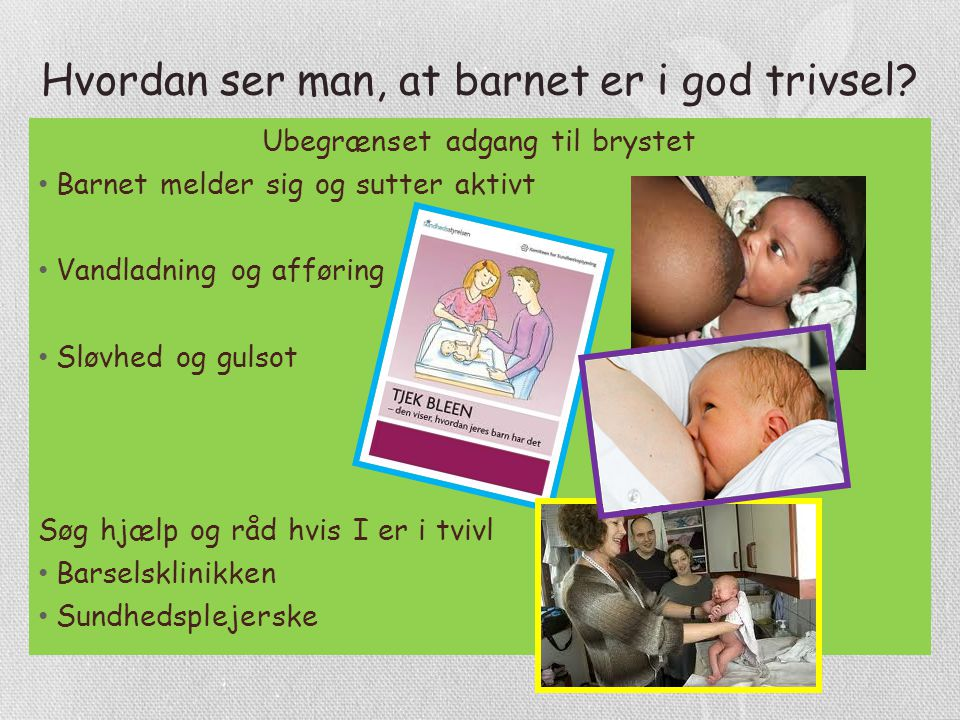 Hvordan ser man, at barnet er i god trivsel