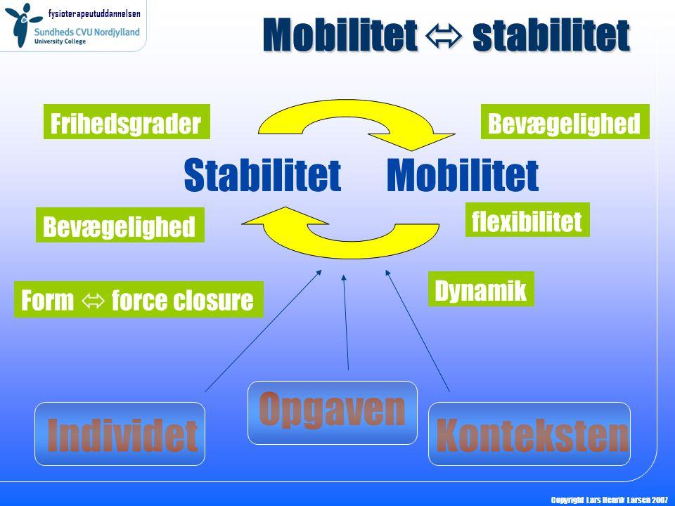 Mobilitet  stabilitet