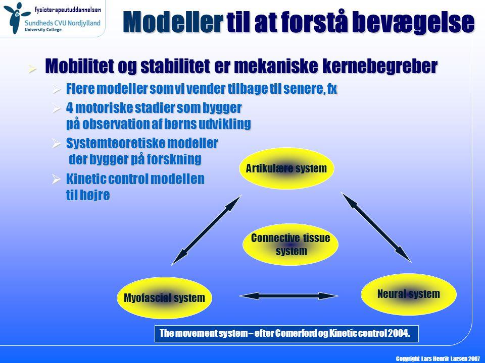 Modeller til at forstå bevægelse