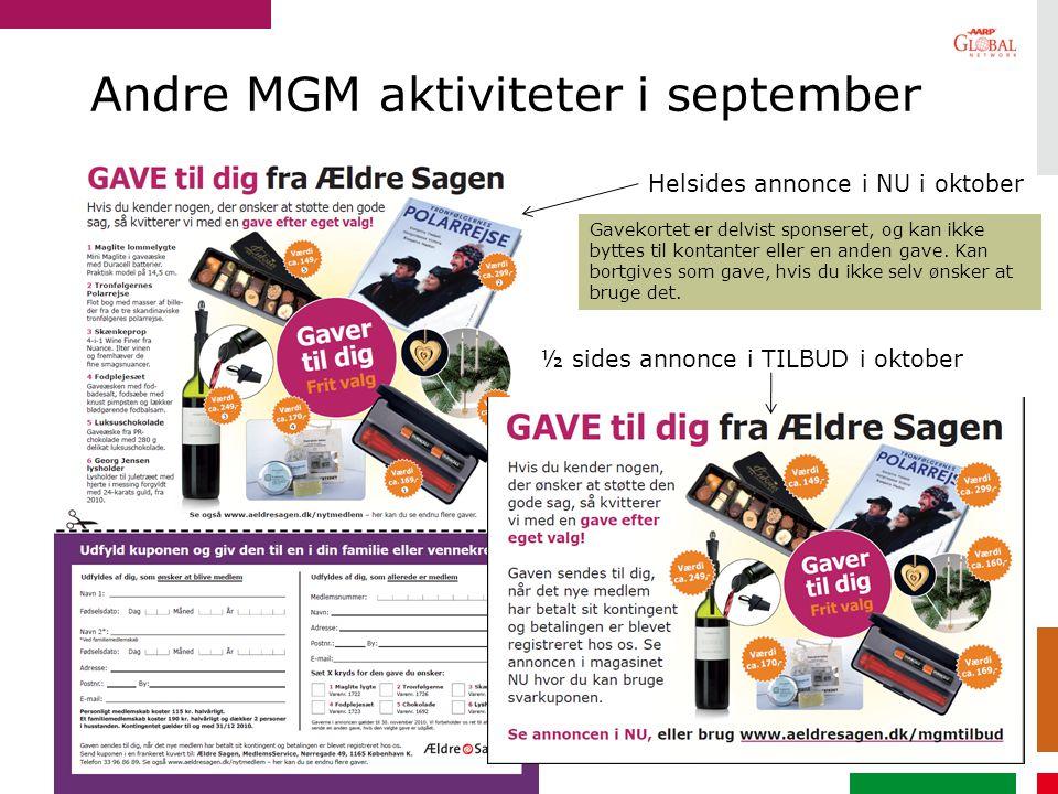 Andre MGM aktiviteter i september