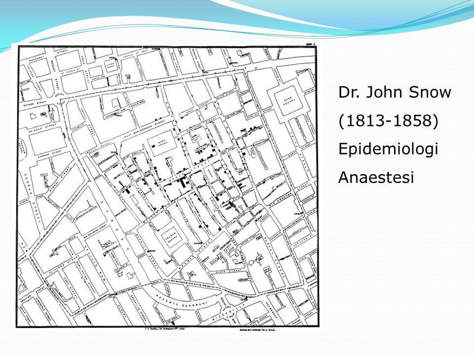 Dr. John Snow (1813-1858) Epidemiologi Anaestesi