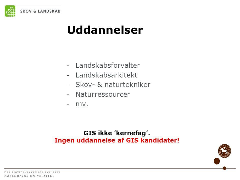 Ingen uddannelse af GIS kandidater!