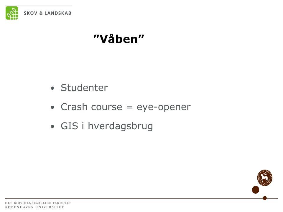 Våben Studenter Crash course = eye-opener GIS i hverdagsbrug