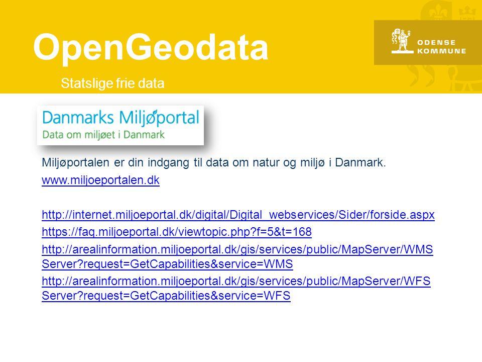 OpenGeodata Statslige frie data