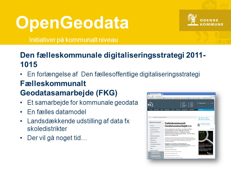 OpenGeodata Den fælleskommunale digitaliseringsstrategi 2011-1015