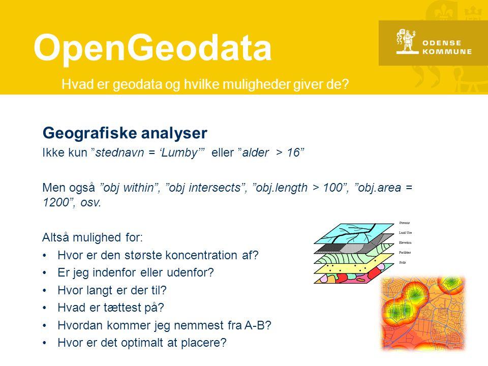 OpenGeodata Geografiske analyser