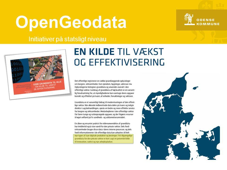 OpenGeodata Initiativer på statsligt niveau