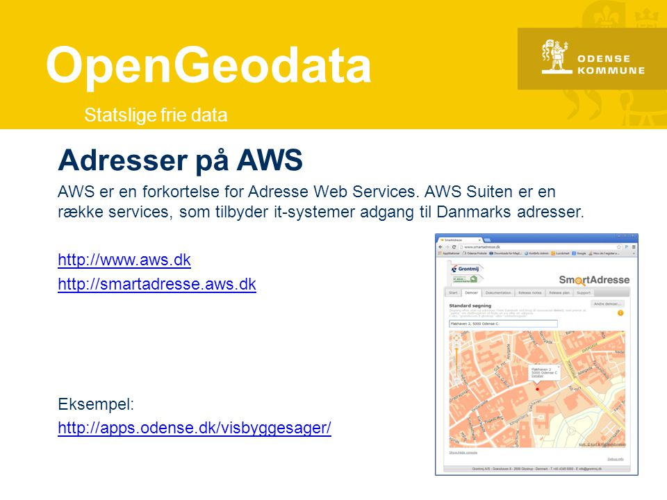 OpenGeodata Adresser på AWS Statslige frie data