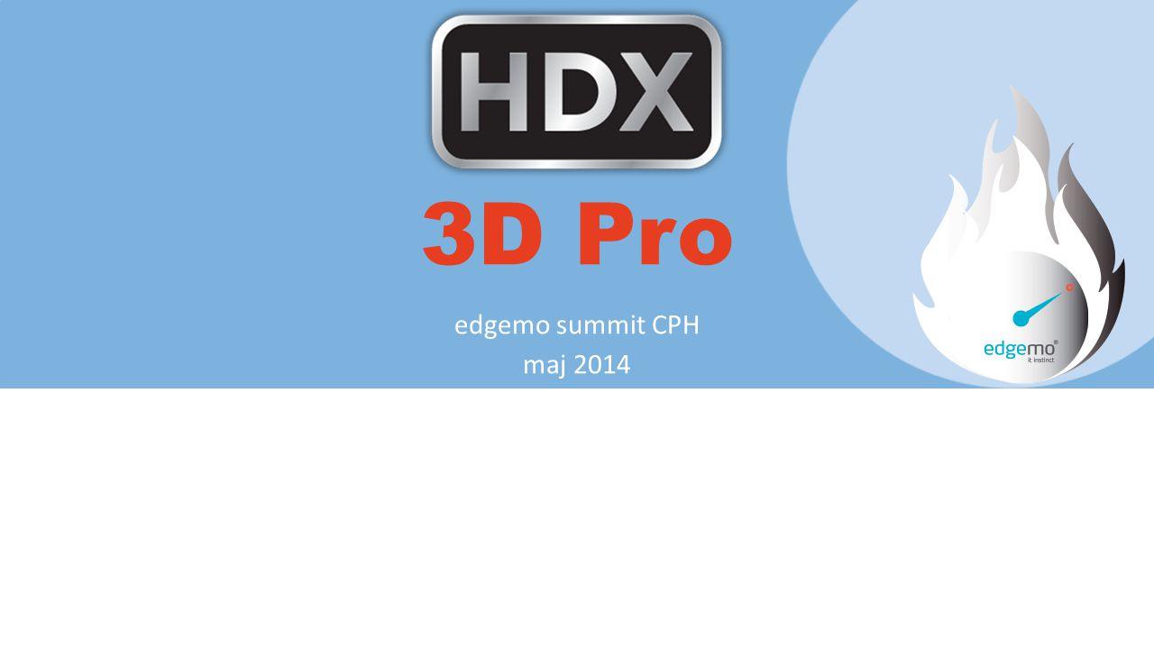 3D Pro edgemo summit CPH maj 2014