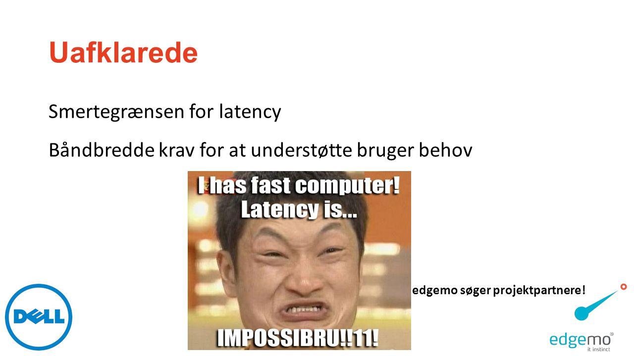 Uafklarede Smertegrænsen for latency