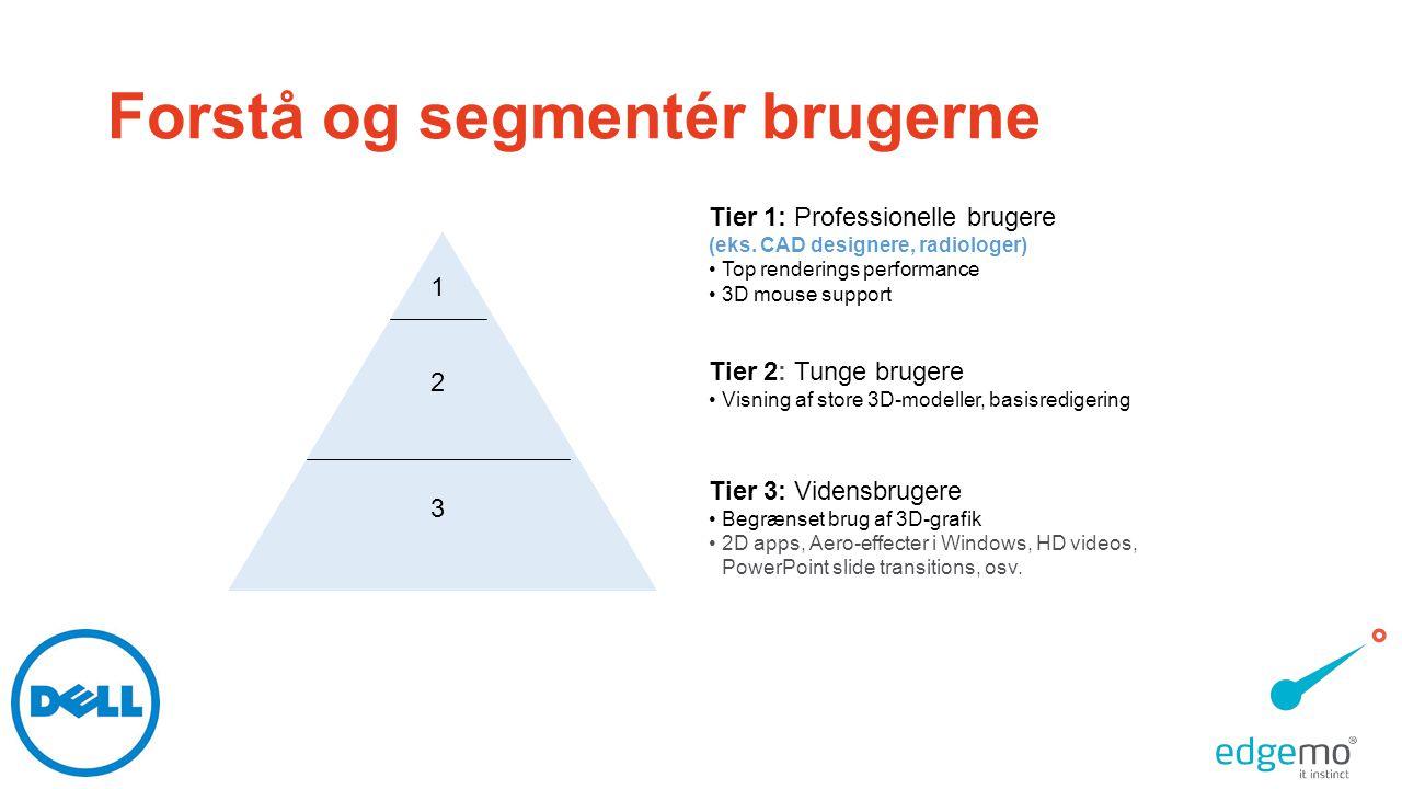 Forstå og segmentér brugerne