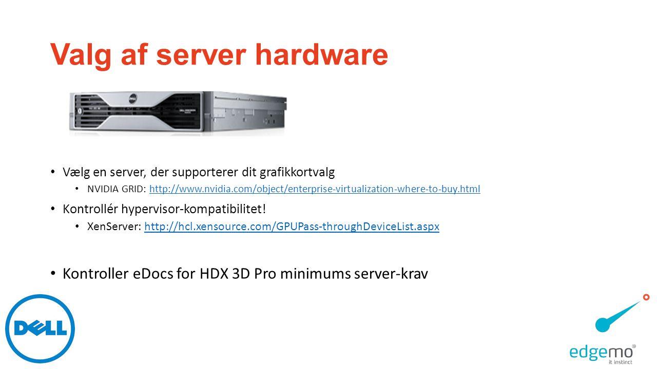 Valg af server hardware