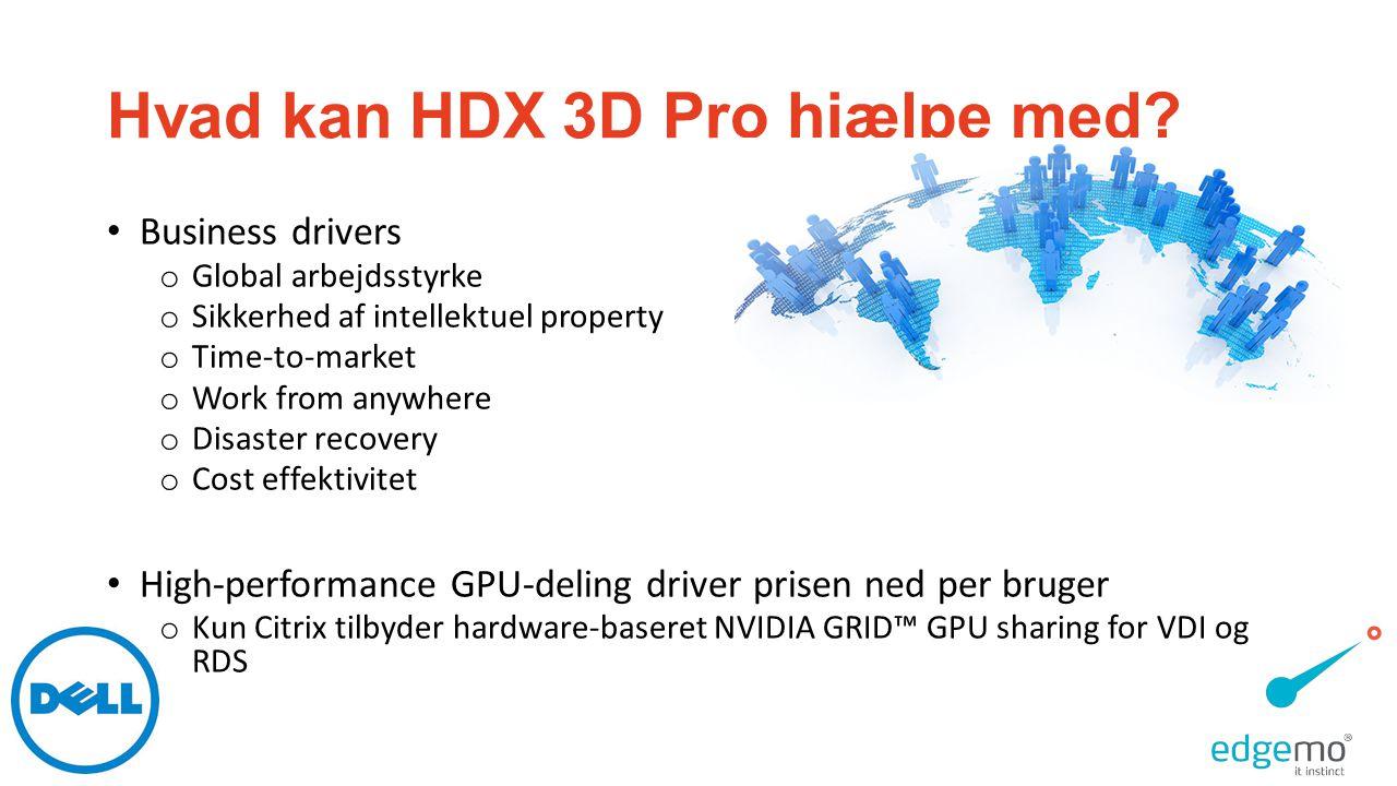 Hvad kan HDX 3D Pro hjælpe med