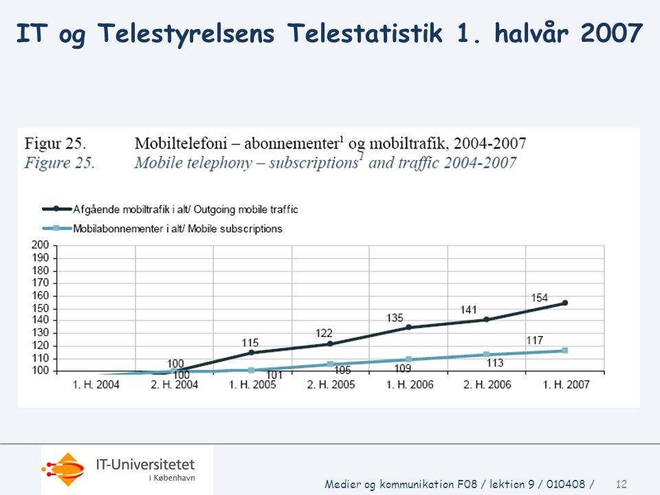 IT og Telestyrelsens Telestatistik 1. halvår 2007