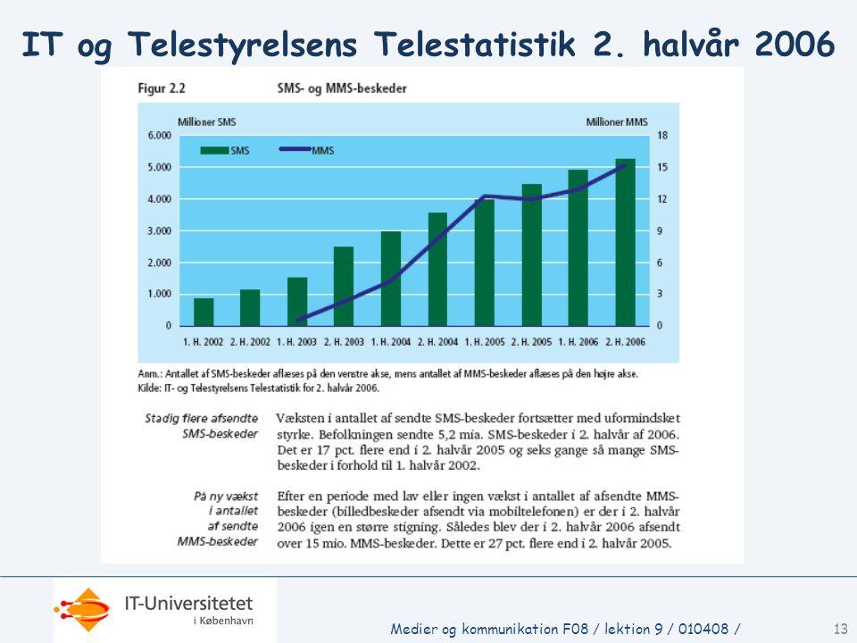 Medier og kommunikation F08 / lektion 9 / 010408 /