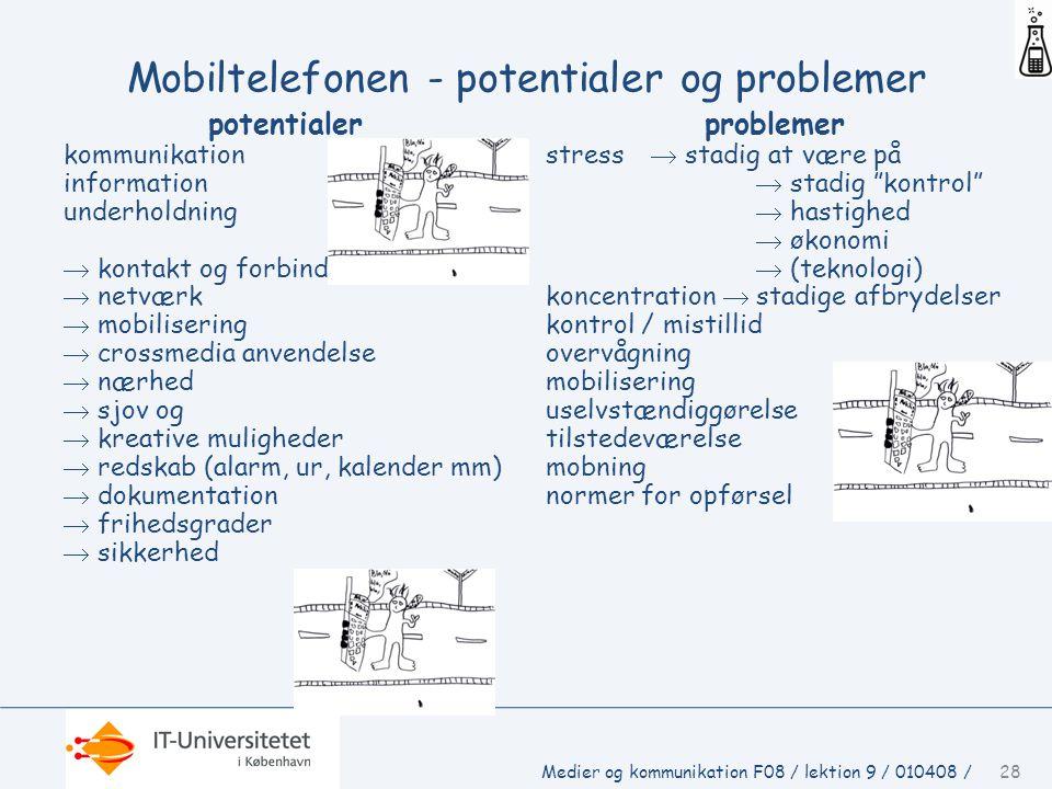 Mobiltelefonen - potentialer og problemer