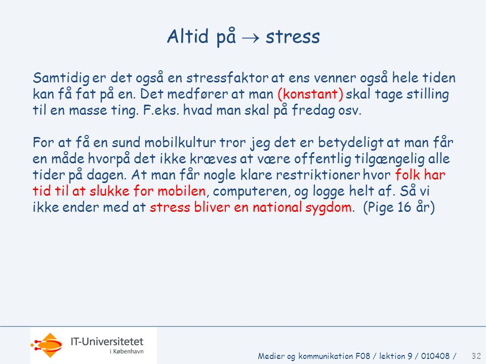 Altid på  stress