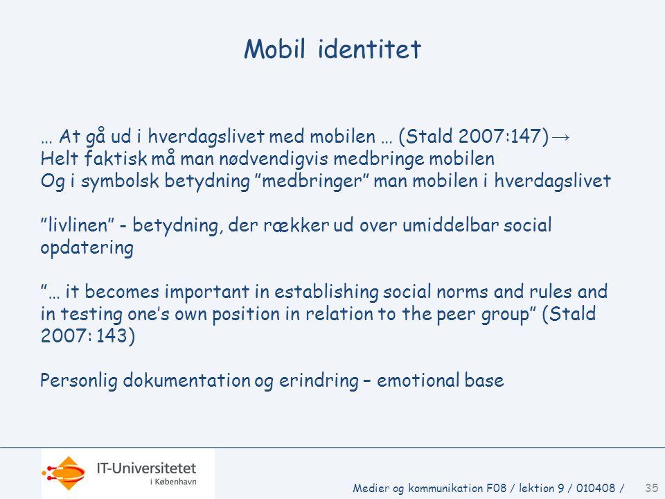 Mobil identitet