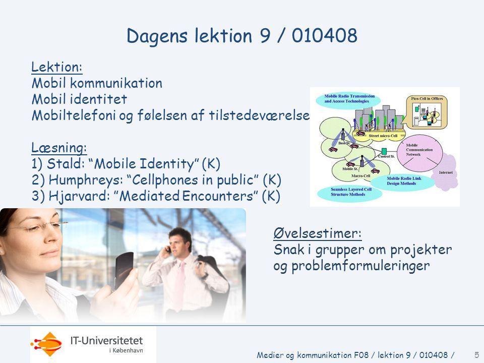 Dagens lektion 9 / 010408