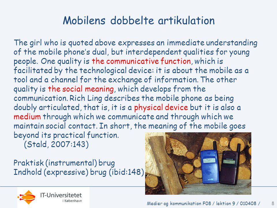 Mobilens dobbelte artikulation