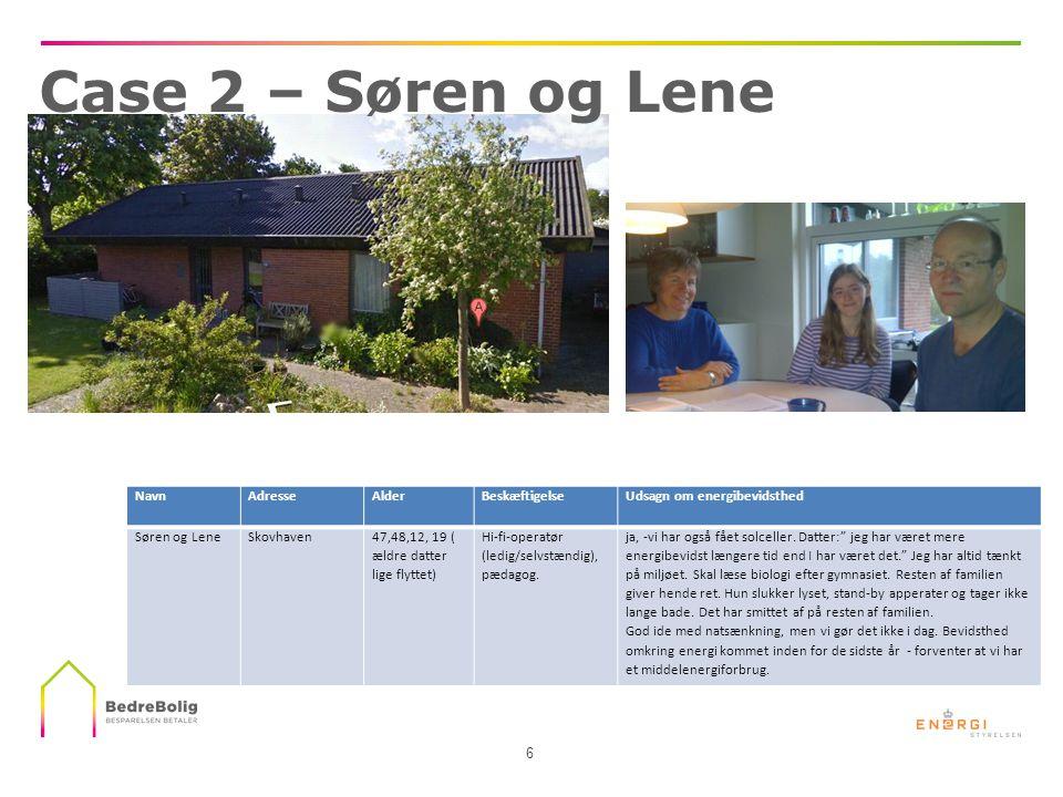Case 2 – Søren og Lene Navn Adresse Alder Beskæftigelse