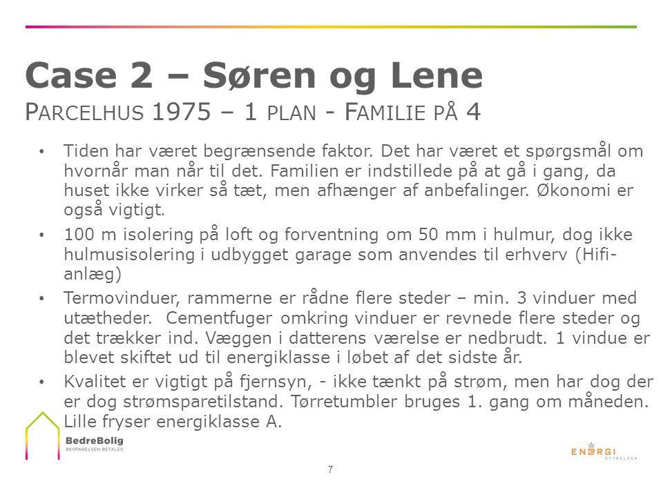 Case 2 – Søren og Lene Parcelhus 1975 – 1 plan - Familie på 4