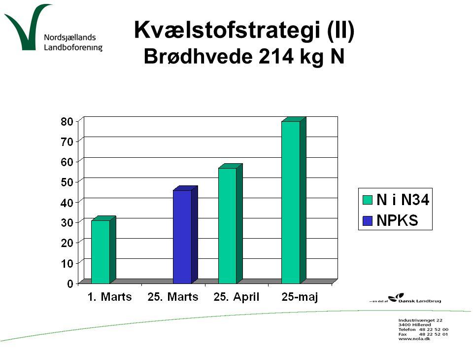 Kvælstofstrategi (II) Brødhvede 214 kg N