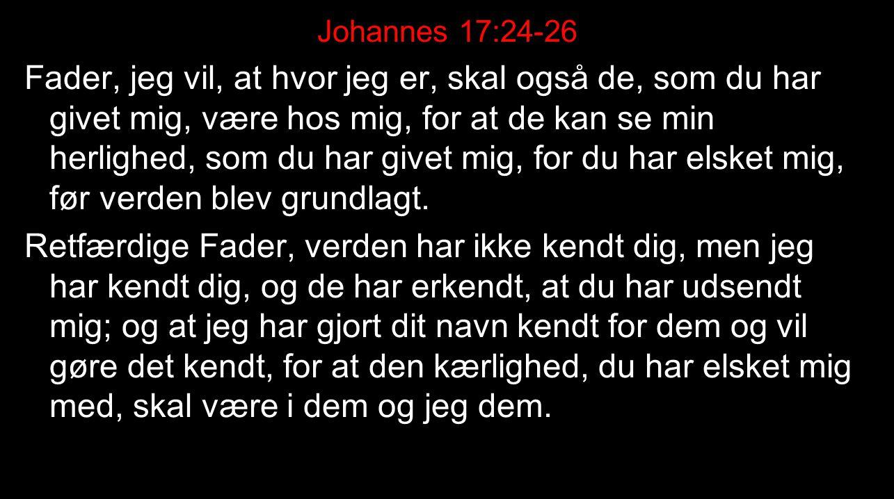 Johannes 17:24-26