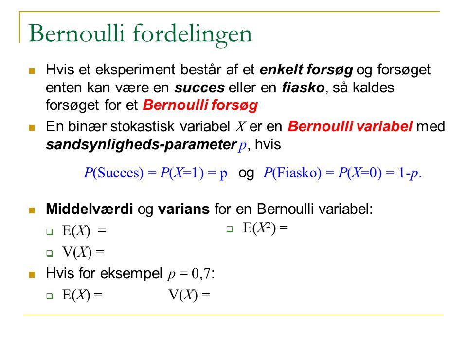Bernoulli fordelingen